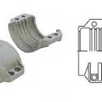 Хомуты (пара) в комплекте с болтами и гайками, стандарт DIN 2817